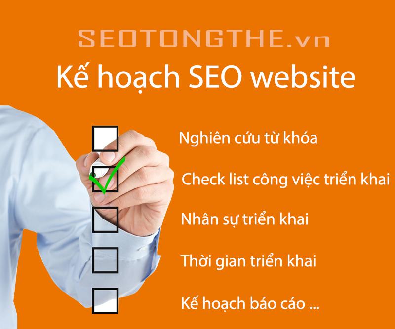 Kế hoạch SEO tổng thể cho một website