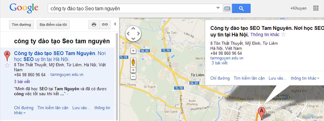 Hướng dẫn làm SEO trên Google Map