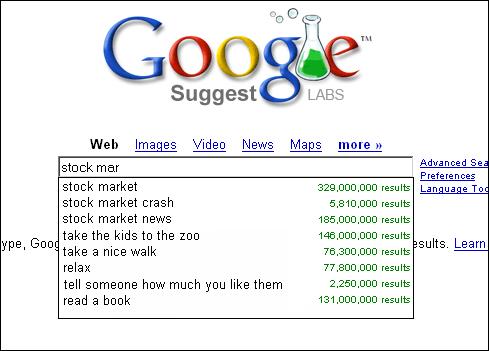 Hướng dẫn sử dụng Google Suggest