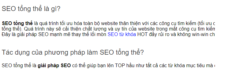 seo internal link
